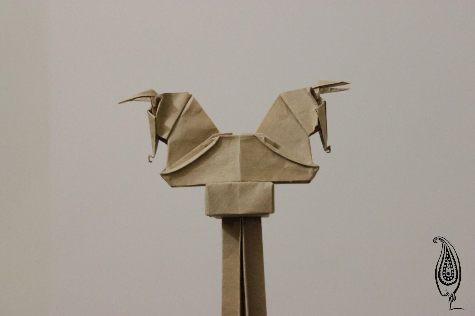 اوریگامی سرستون گاو-تخت جمشید