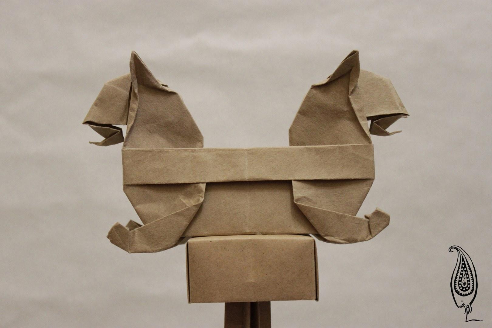 اوریگامی سرستون هما-تخت جمشید