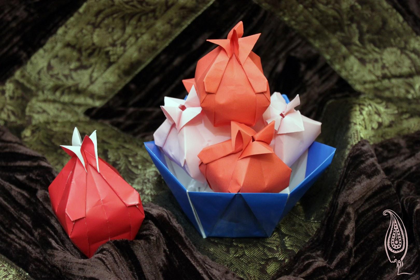 اوریگامی انار