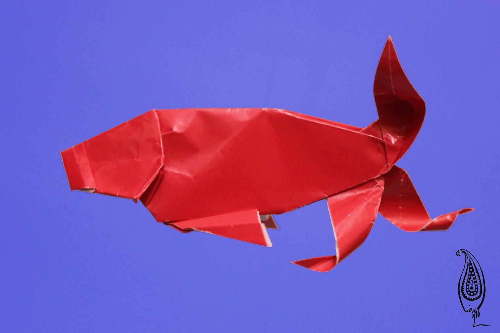 اوریگامی ماهی قرمز